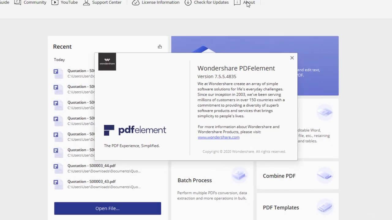Wondershare PDFelement Pro License Number